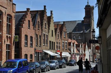Bruges storefronts, Brugge, Belgique