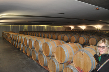 Wine barrel aging, Chateau Pichon-Longueville, Medoc, France. Photo by David Wineberg