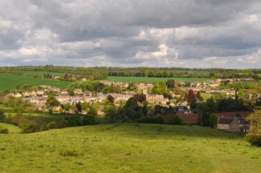 Leaving Blockey, Cotswolds, Gloucestershire, England, UK