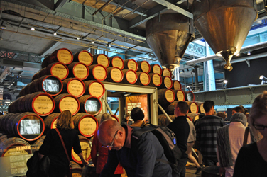 Barrel-making exhibit, Guinness Storehouse, Dublin, Ireland. Photo by David Wineberg