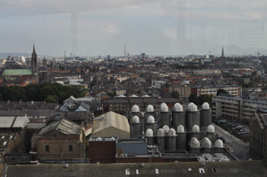 View from 7th floor, Guinness Storehouse, Dublin, Ireland. Photo by David Wineberg