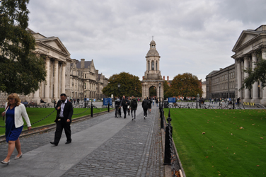 Trinity College campus, center of Dublin, Ireland. Photo by David Wineberg
