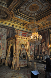King's bedroom, Chateau Fontainebleau, Fontainebleau, France. Photo by David Wineberg