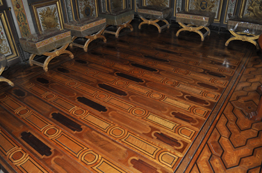 Wooden floor parquetry, Chateau Fontainebleau, fontainebleau, France. Photo by David Wineberg
