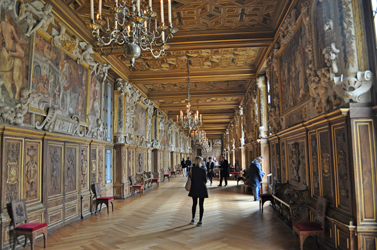 Receiving Hall, Chateau Fontainebleau, Fontainebleau, France.