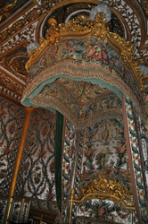 Bed canopy of Marie Antoinette, Chateau Fontainebleau, Fontainebleau, Normandy, France. Photo by David Wineberg