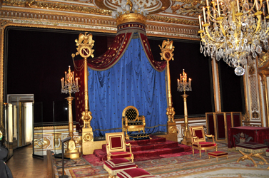 Napoleon's throne room, Chateau Fontainebleau, Fontainebleau, France. Photo by David Wineberg