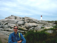 Nancy at Peggy's Cove