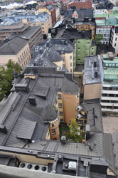 View of rooftops from Torni Tower, Helsinki, Finland. Photo by David Wineberg