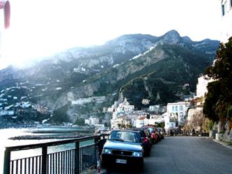 Approaching Amalfi, Italy