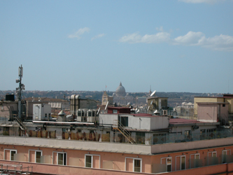 View of Vatican from Hotel Mediterraneo, Rome, Italy