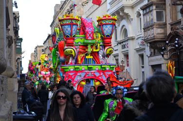 Carnival parade, Valletta, Malta. Photo by David Wineberg