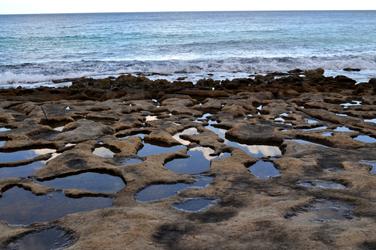 Limestone shoreline, Sliema, Malta. Photo by David Wineberg
