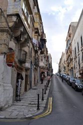 Stairs for sidewalks, Valletta, Malta. Photo by David Wineberg