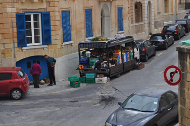 Typical fruit and vegtable truck, Sliema, Malta. Photo by David Wineberg