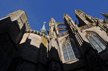 Abbey Chapel, Mont Saint-Michel, Normandy, France. Photo by David Wineberg