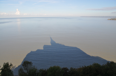 Shadow on the bay, Mont Saint-Michel, Normandy, France. Photo by David Wineberg