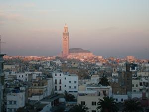Hassan II mosque, Casablanca, Morocco, sunrise