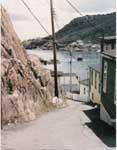 Walking through a fishing village