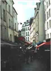 Market on rue Mouffetard