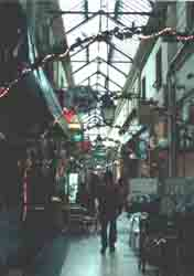 Indoor arcade - with outdoor cafés