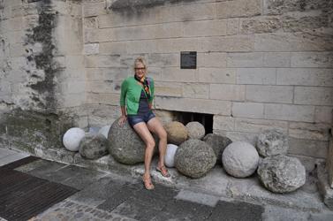Catapult balls, Papal Palace, Avignon, France. Photo by David Wineberg