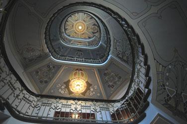 Art Novueau/Jugendstil stairwell, Riga, Latvia. Photo by David Wineberg