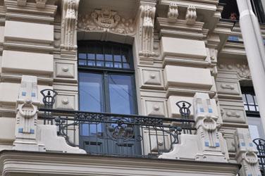 Jugendstil balcony, Riga, Latvia. Photo by David Wineberg