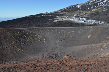 Crater and 2000m village, Mt. Etna, Sicily, Italy. Photo by David Wineberg