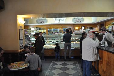Pastry/Gelato cafe, Nicolosi, Sicily, Italy. Photo by David Wineberg