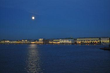 Neva River bank by full moon. Photo by David Wineberg