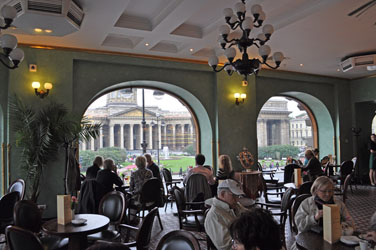 Singer Cafe, St. Petersburg, Russia. Photo by David Wineberg