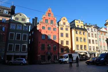 Stockholm harbor street. Photo by David Wineberg