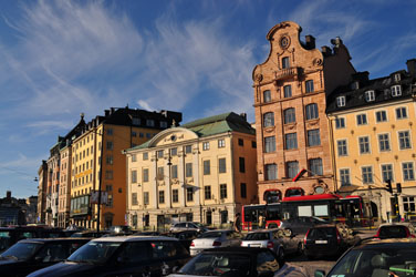 Oldtown architecture, Stockholm, Sweden. Photo by David Wineberg
