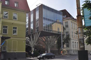 Tree branch building, Tallinn, Estonia. Photo by David Wineberg