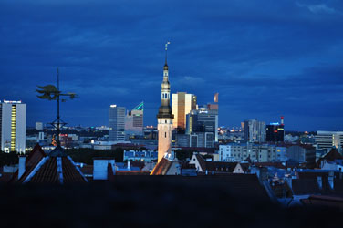 Tallinn skyline from Toompea, Tallinn, Estonia. Photo by David Wineberg