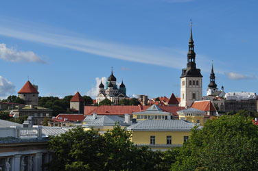 Old Town from Solaris Center, Tallinn, Estonia. Photo by David Wineberg