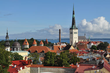 Old Town from Toompea lookout, Tallinn, Estonia. Photo by David Wineberg