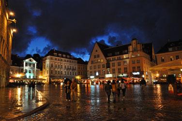 Main Square, Old Town, Tallinn, Estonia. Photo by David Wineberg