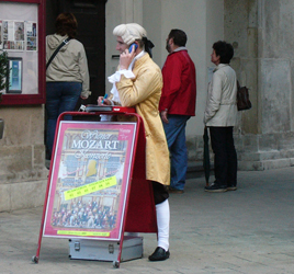 Mozart communicates, Vienna